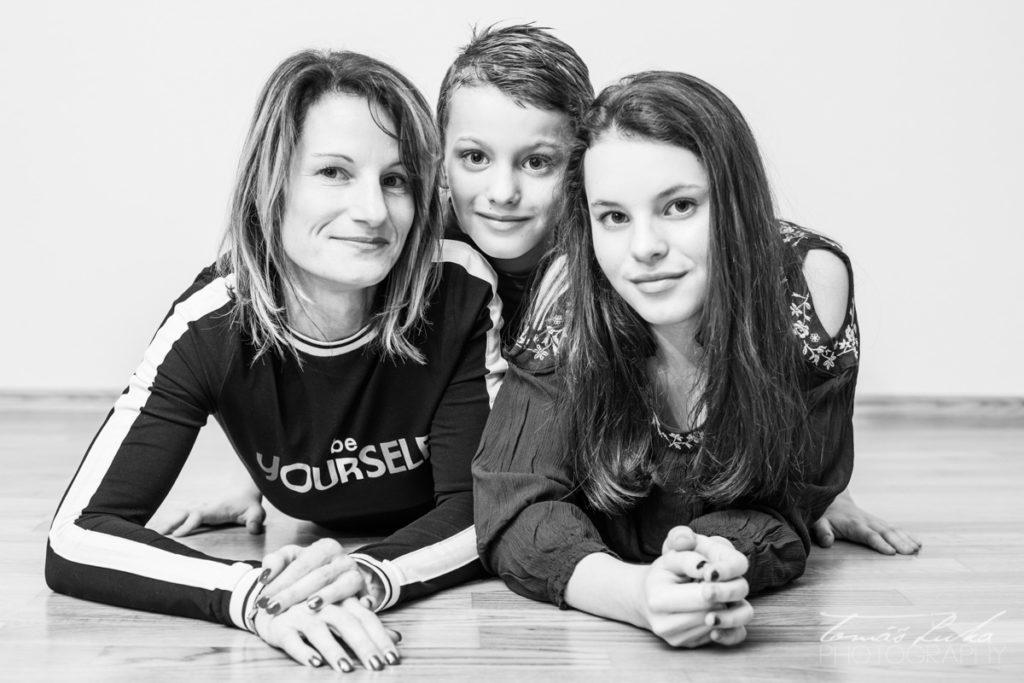 Černobíla rodinná fotografie