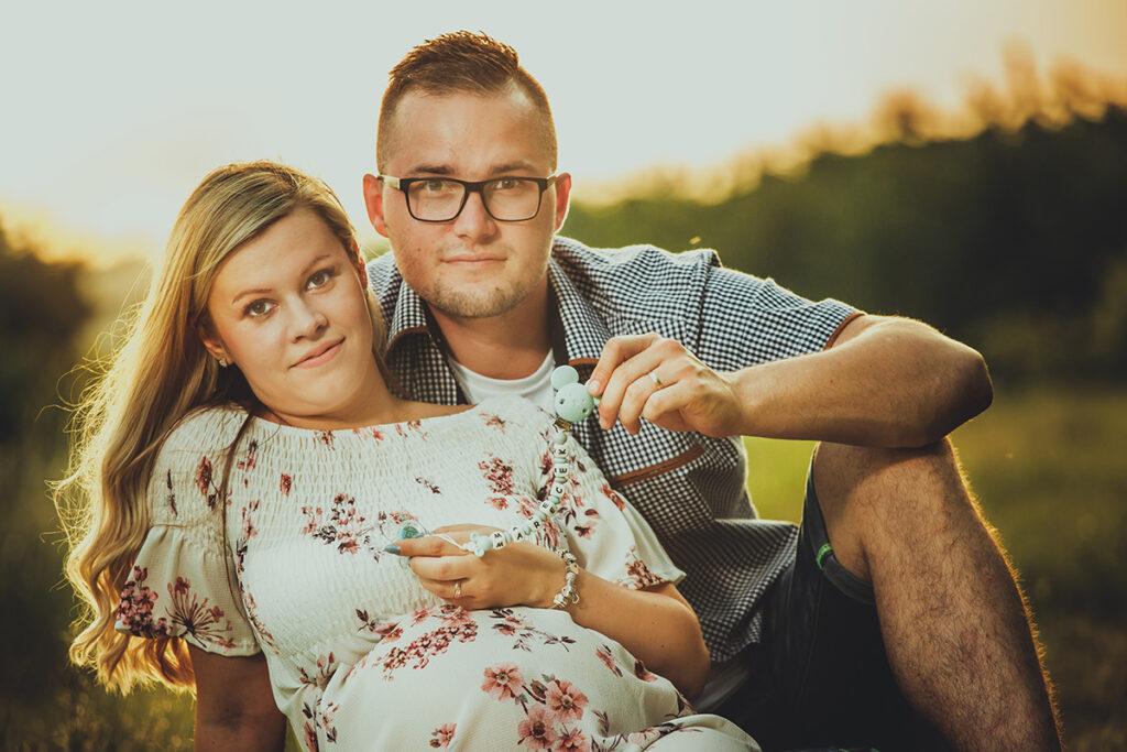 Blanka a Lukáš - těhotenská fotografie